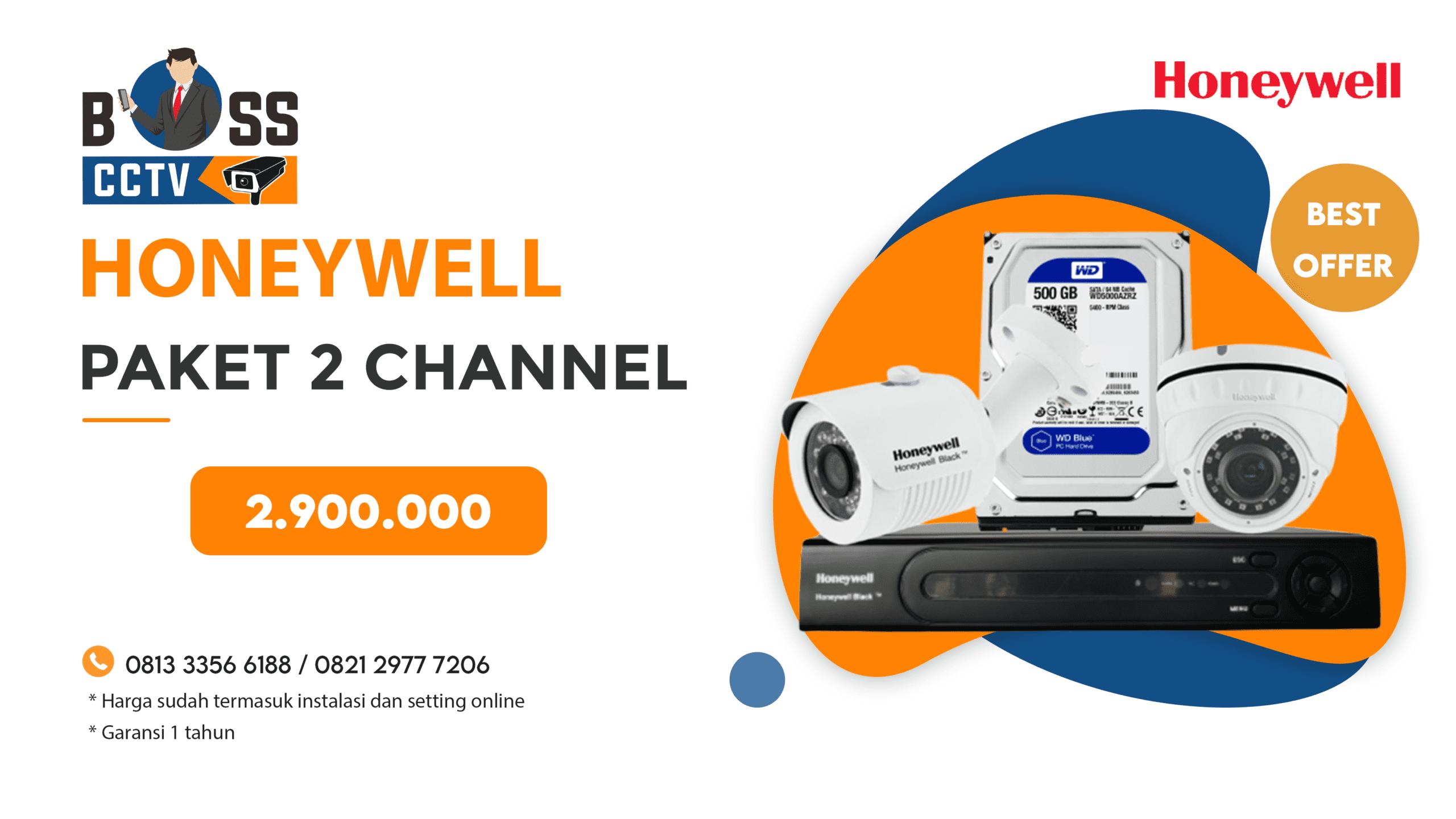 Paket CCTV Honeywell 2 CH