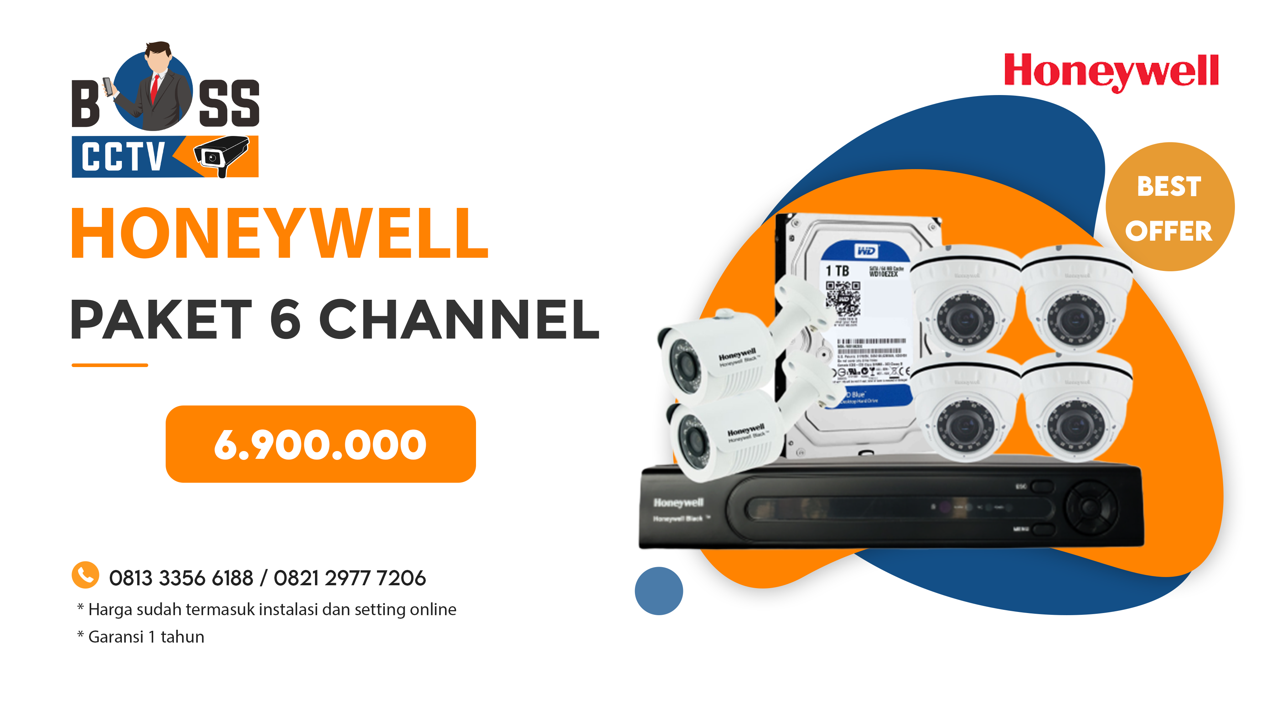 Paket CCTV Honeywell 6 CH