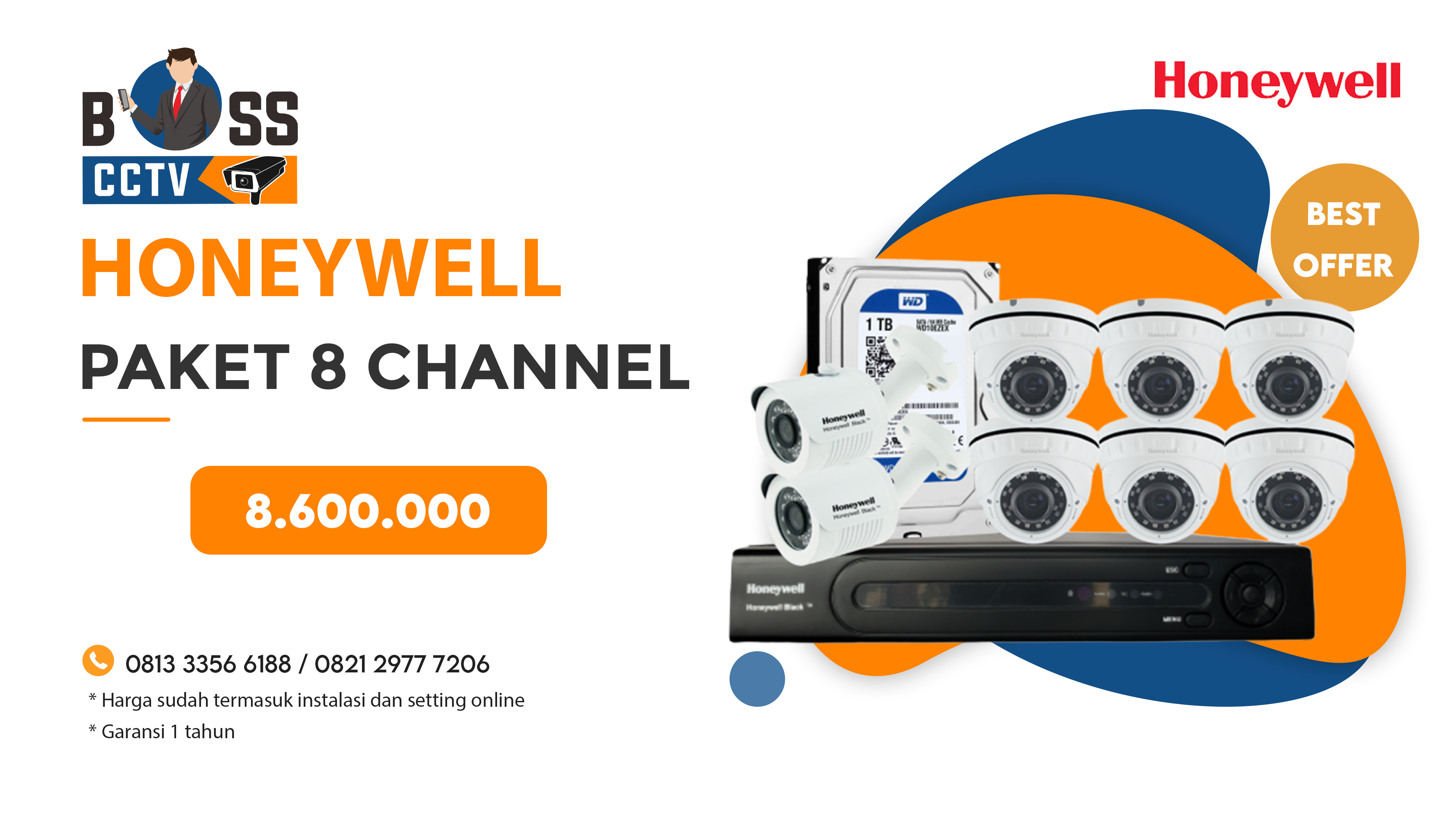 Paket CCTV Honeywell 8 CH