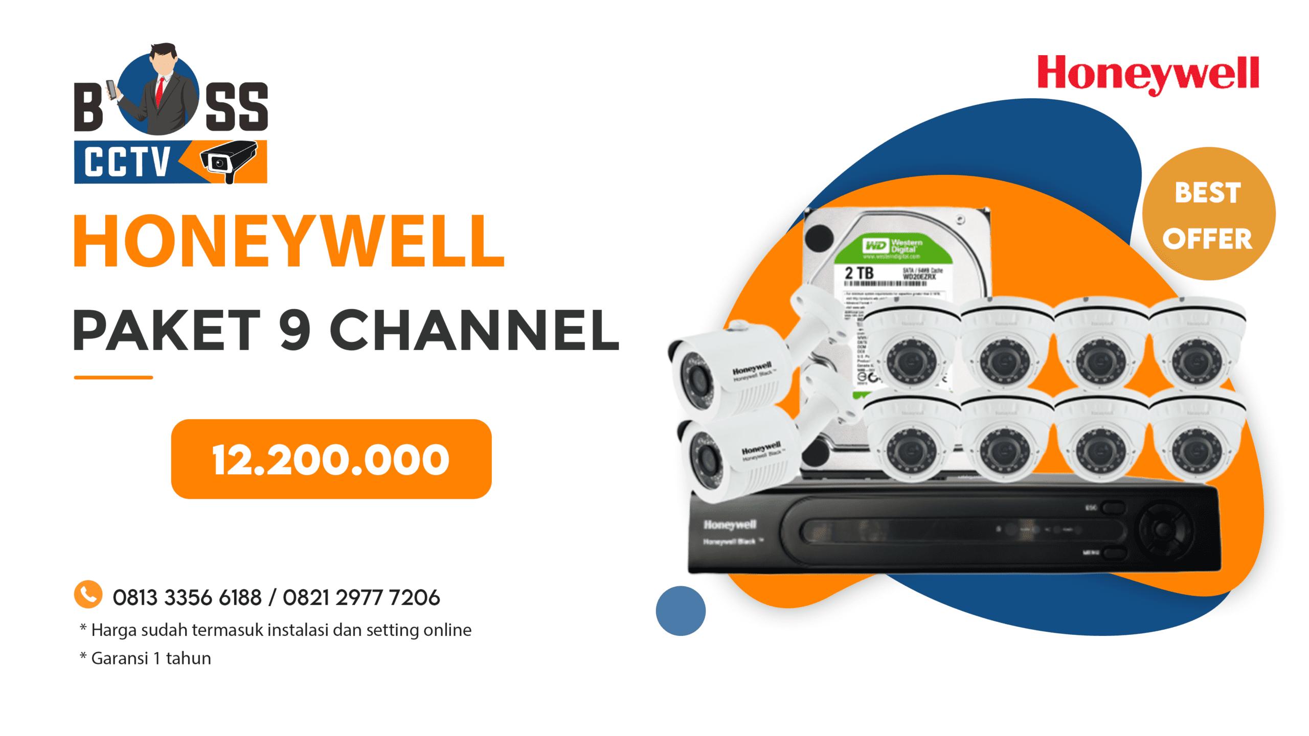 Paket CCTV Honeywell 9 CH