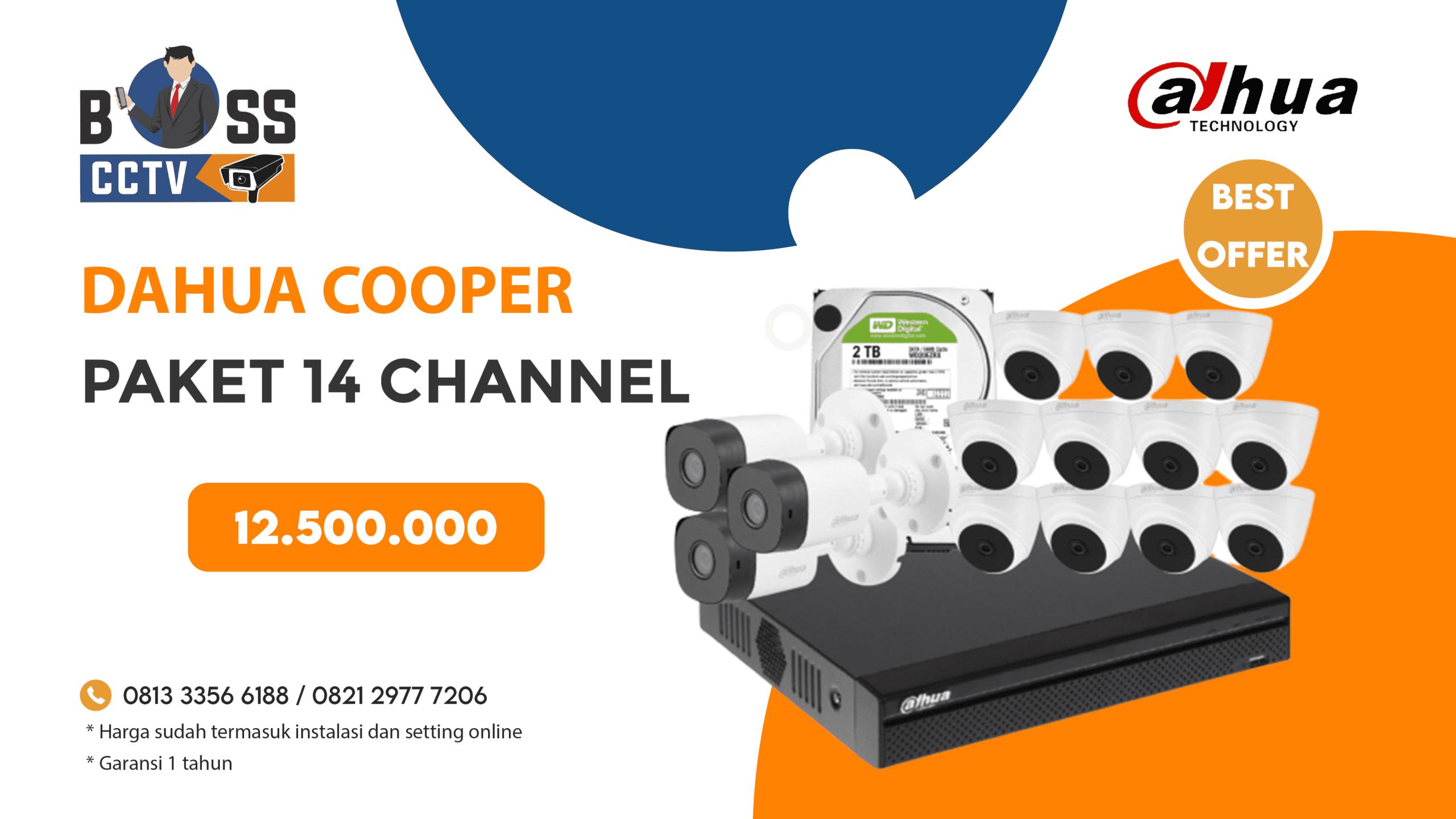 Paket CCTV DAHUA COOPER 14 CH