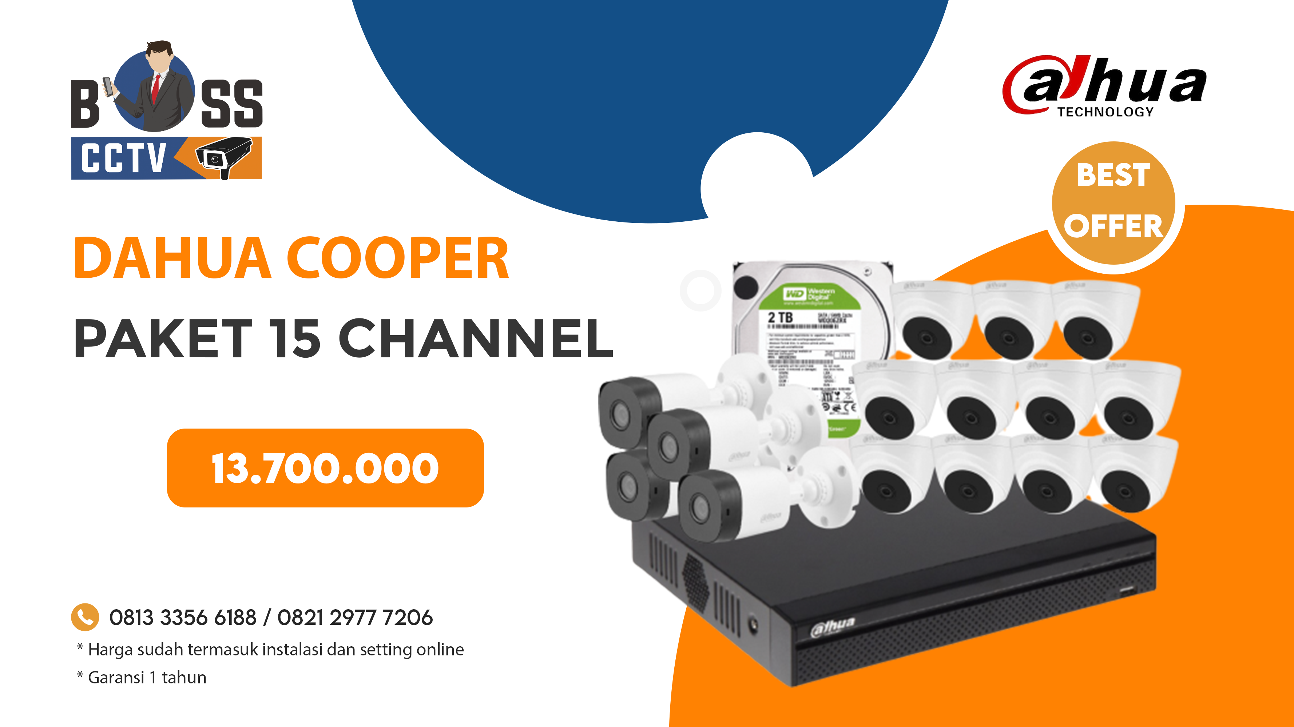Paket CCTV DAHUA COOPER 15 CH