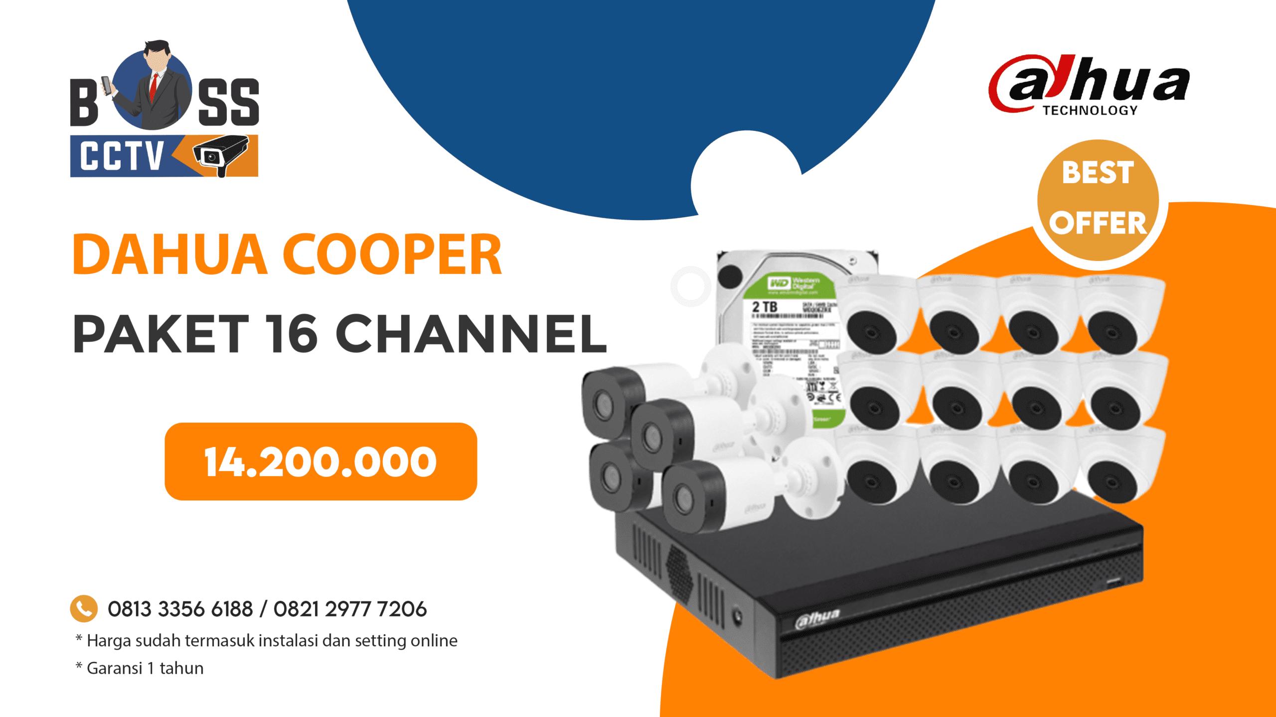 Paket CCTV DAHUA COOPER 16 CH