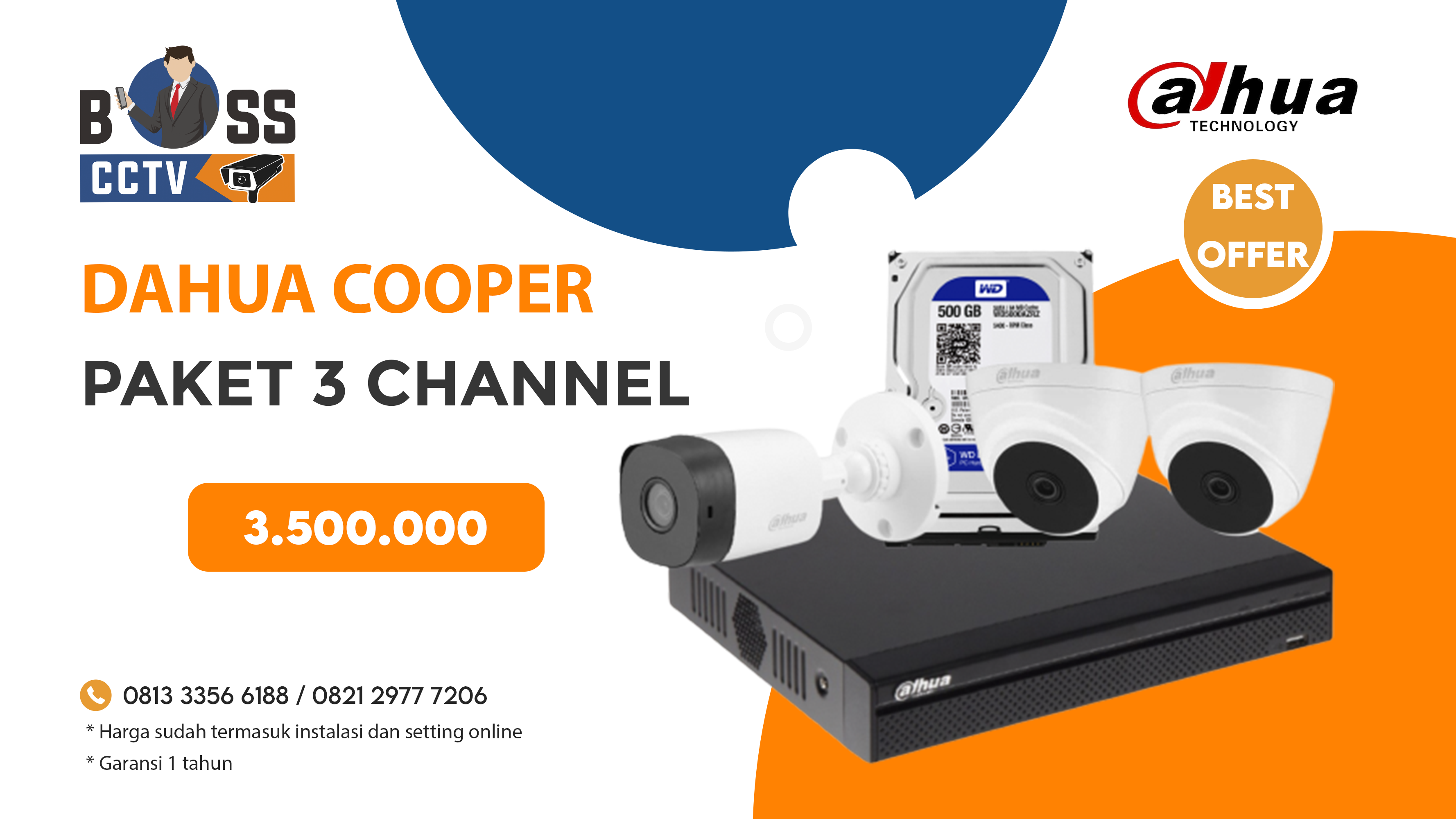 PAKET CCTV DAHUA COOPER 3 CH