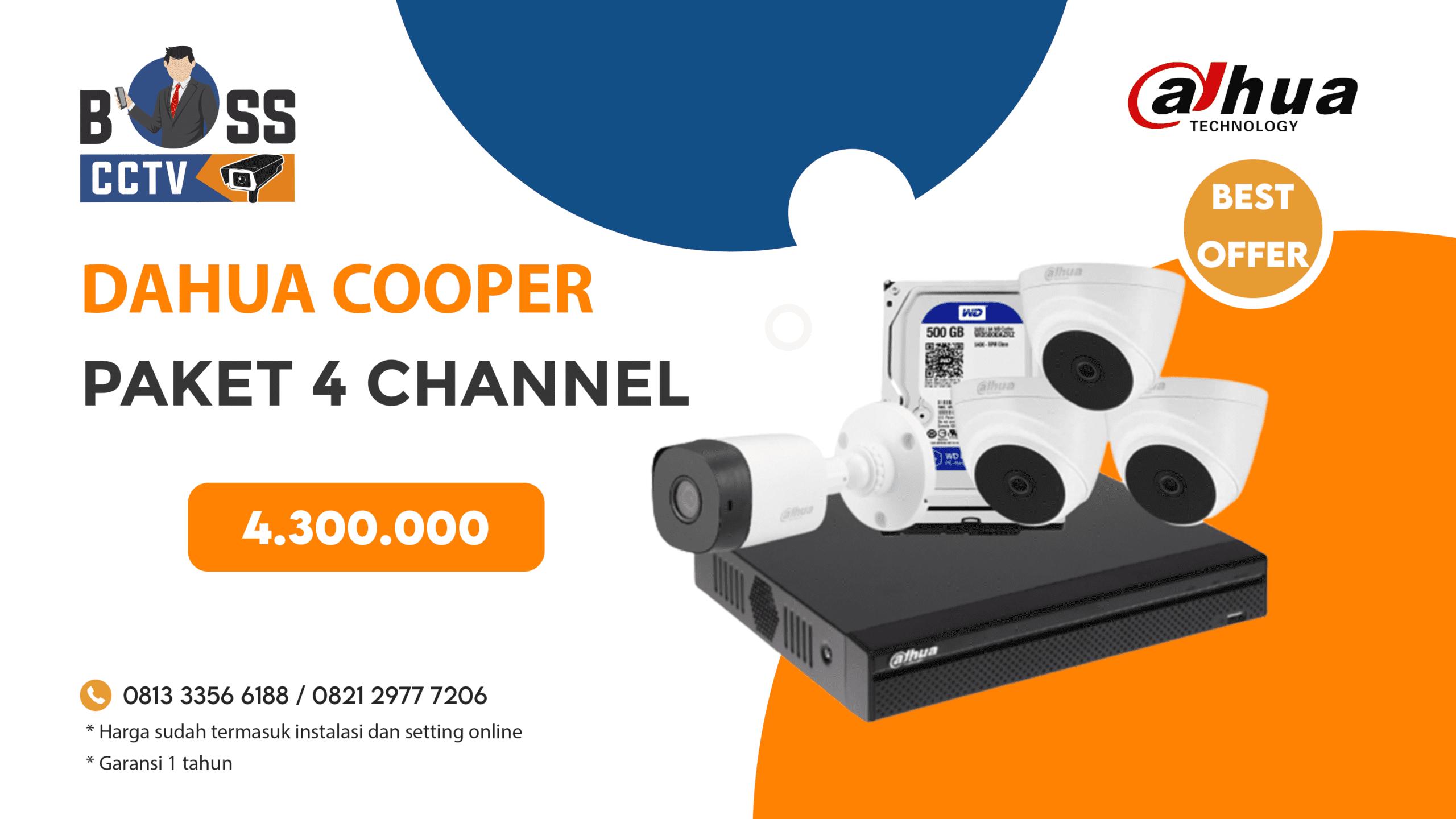 Paket CCTV DAHUA COOPER 4 CH
