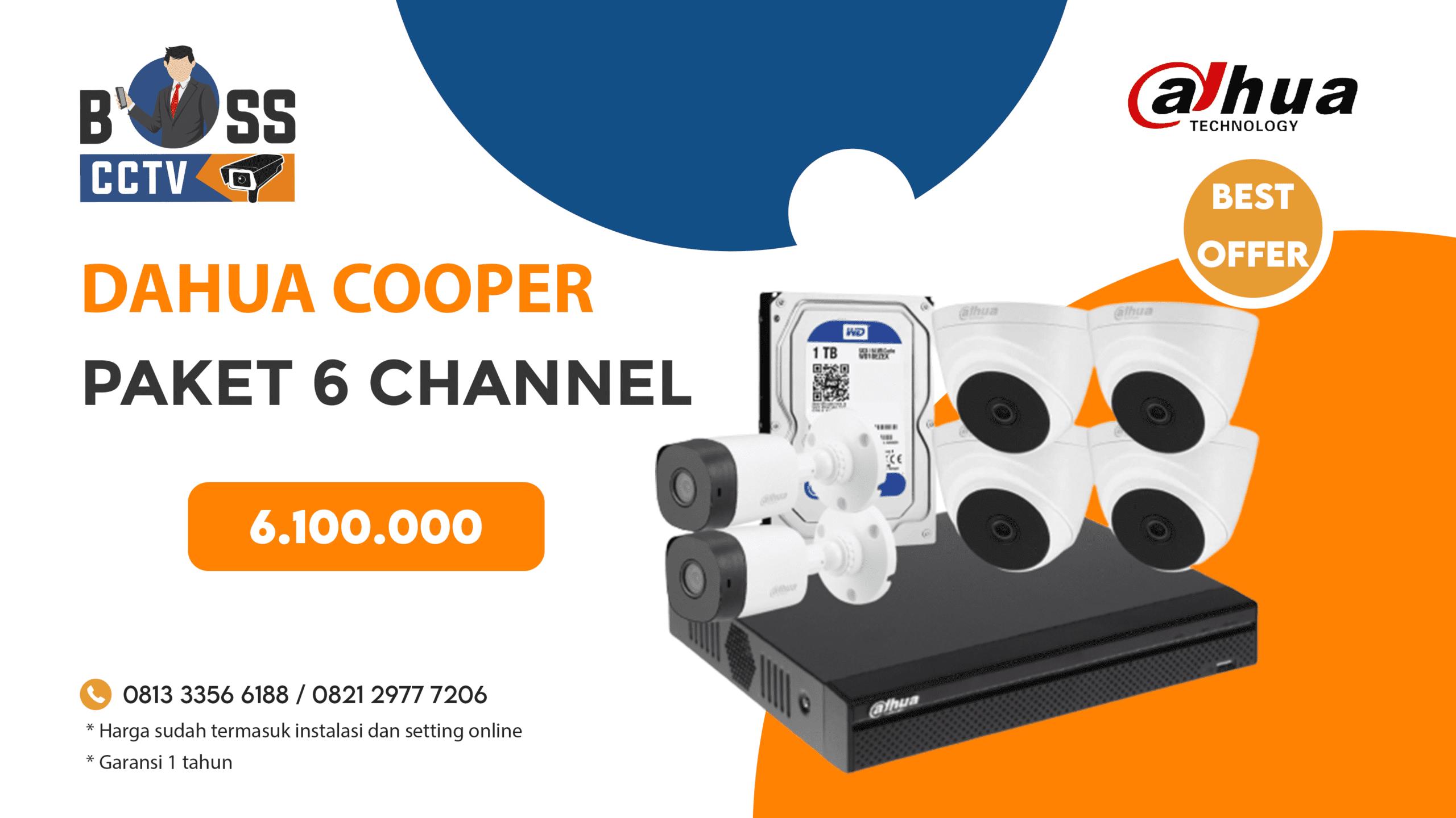 PAKET CCTV DAHUA COOPER 6 CH
