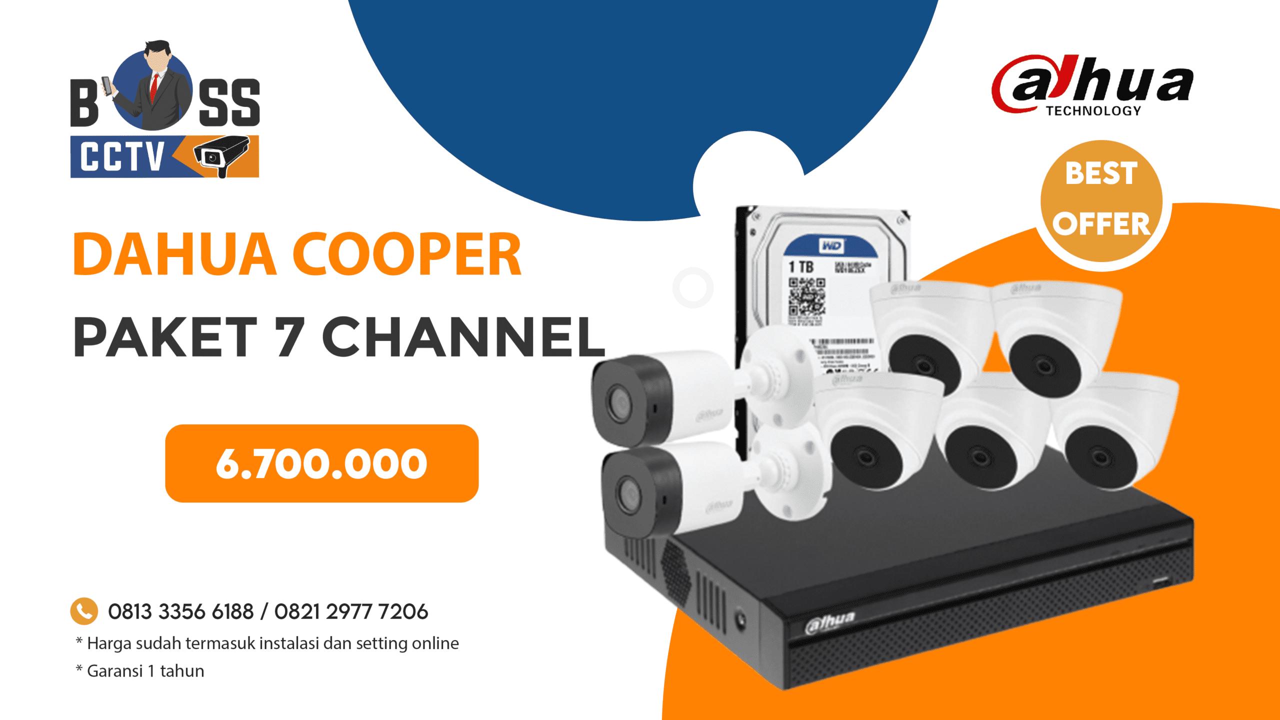 Paket CCTV Dahua Cooper 7 CH