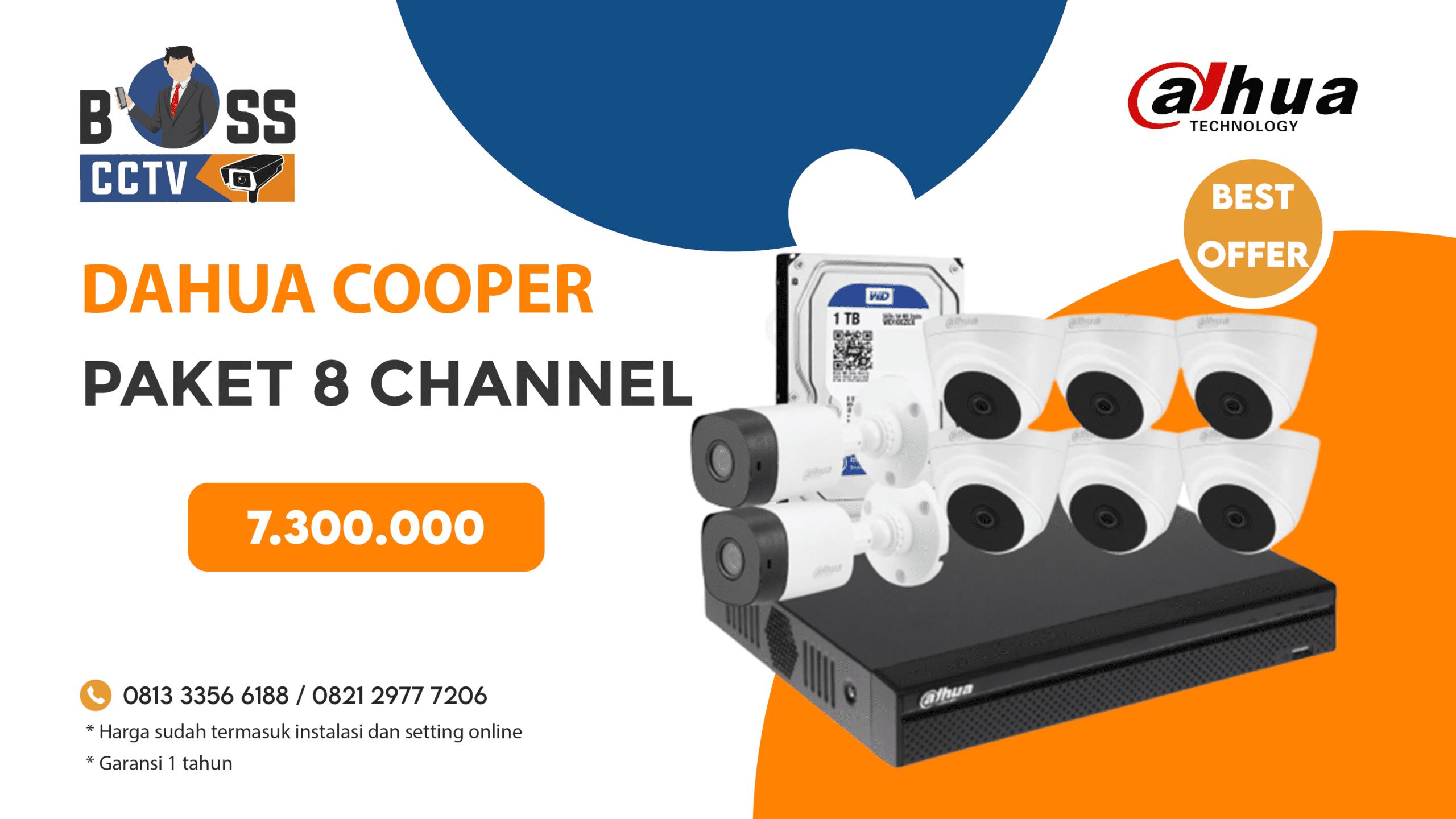Paket CCTV DAHUA COOPER 8 CH
