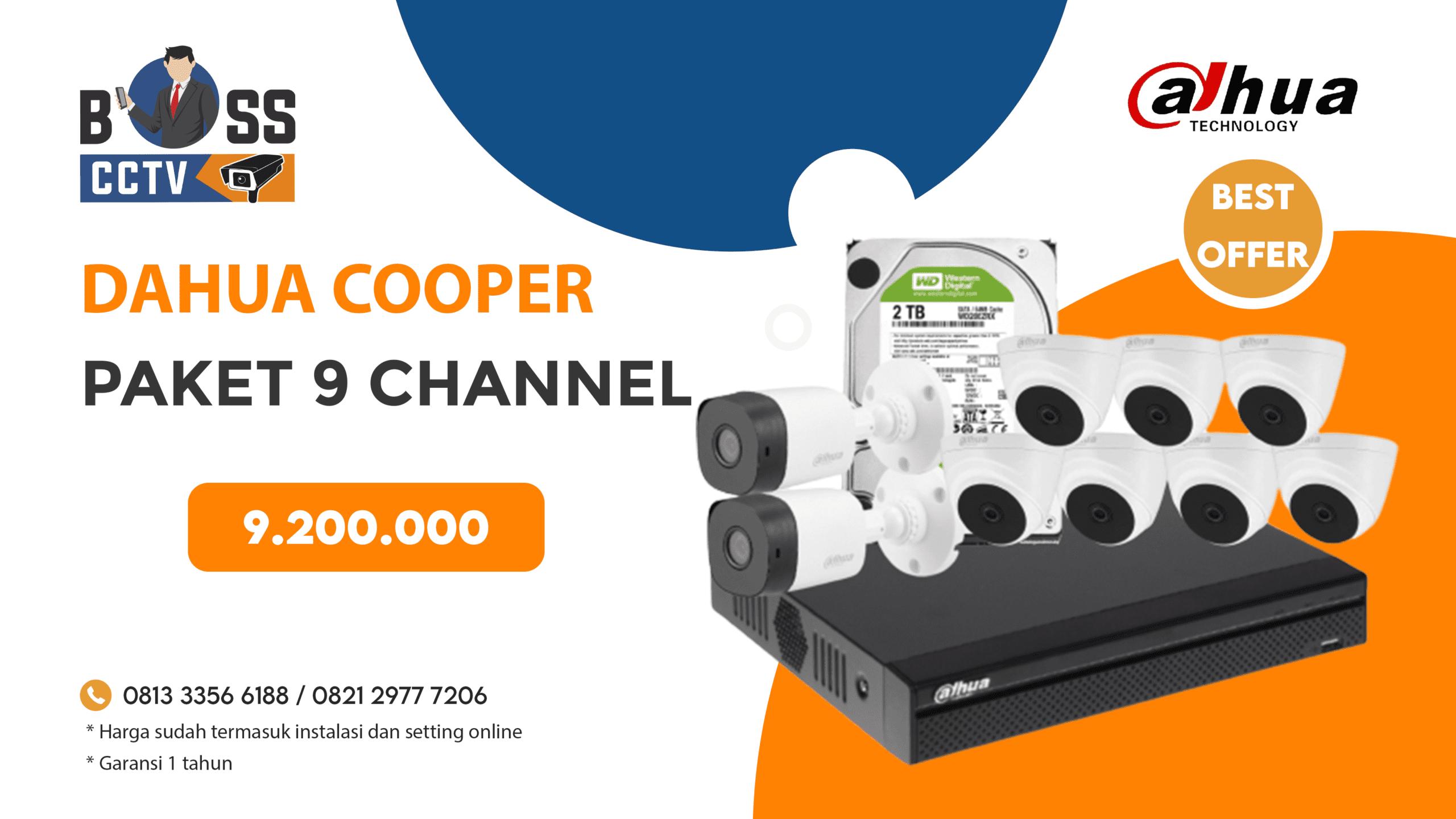 Paket CCTV Dahua Cooper 9 CH