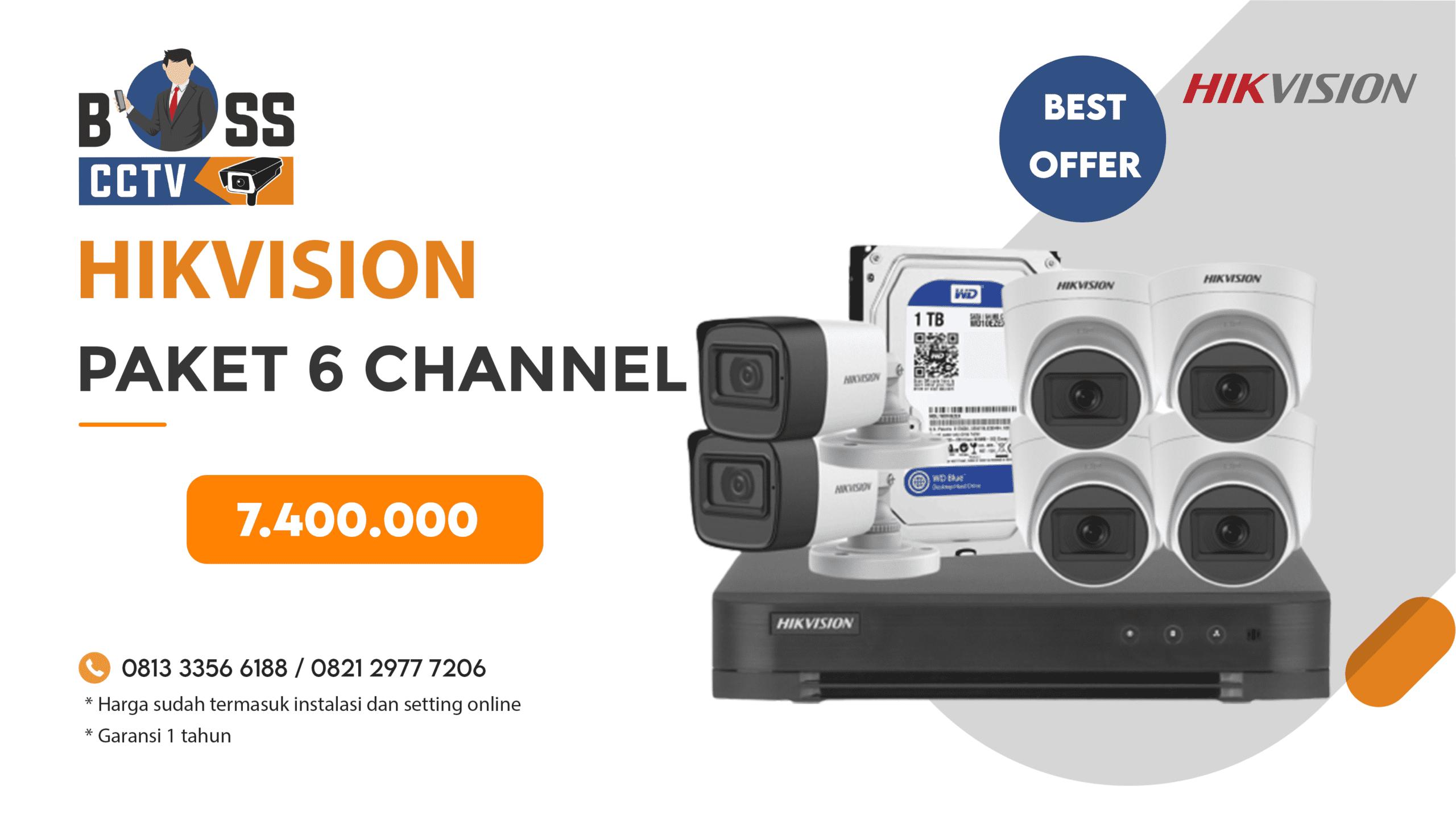 Paket CCTV Hikvision 6 CH