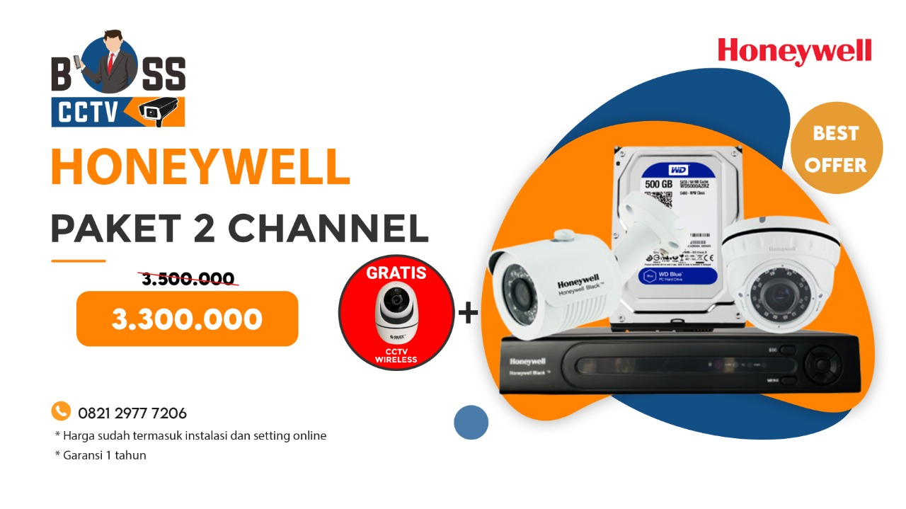 Paket CCTV Honeywell 2 Channel