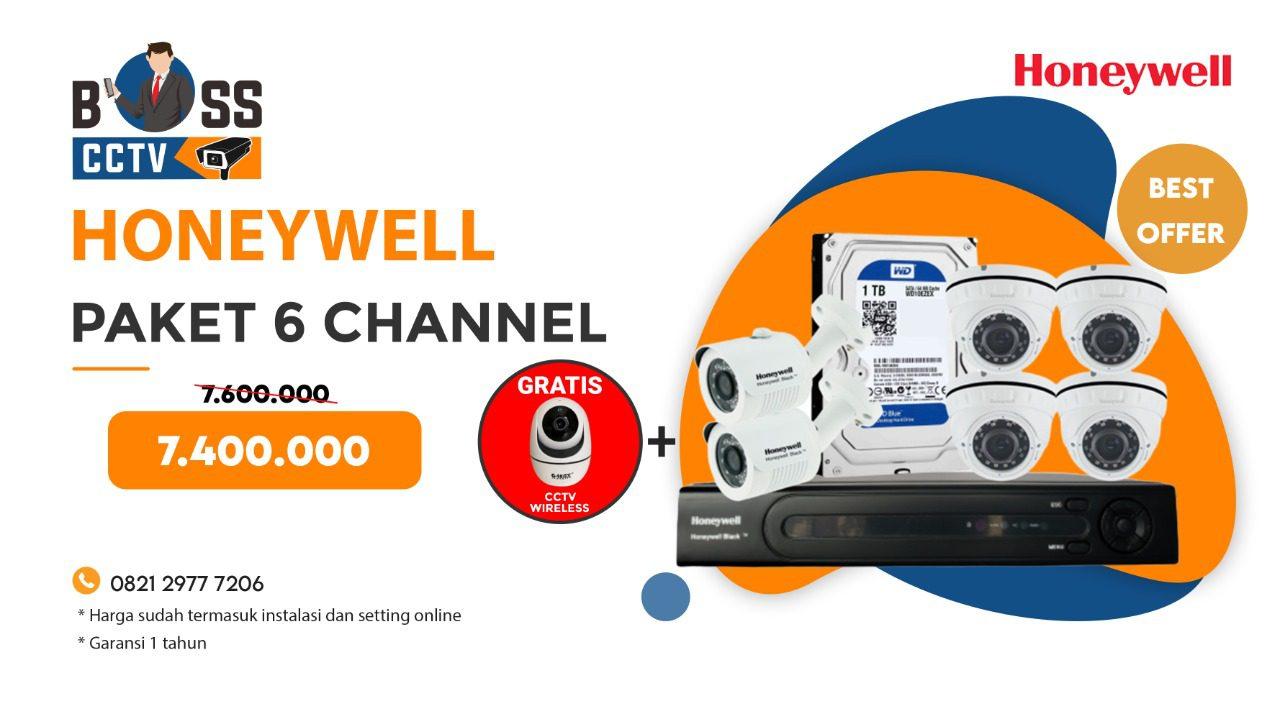 Paket CCTV Honeywell 6 Channel