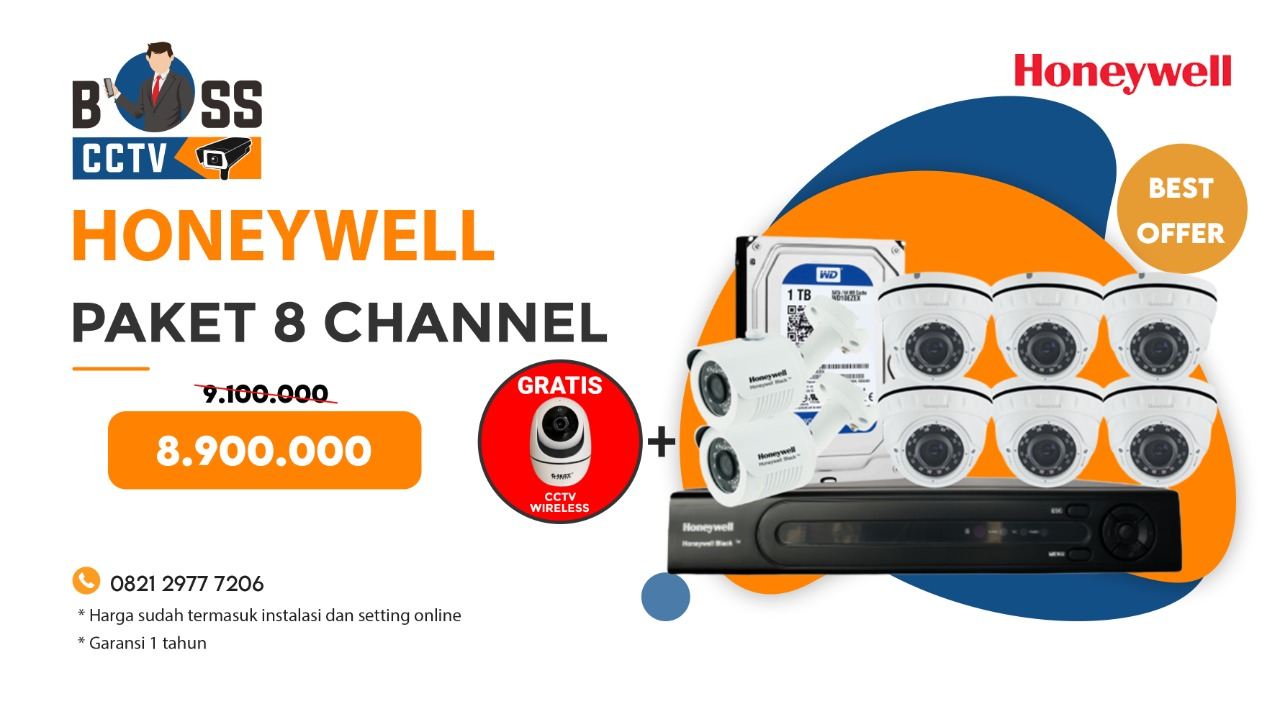 Paket CCTV Honeywell 8 Channel