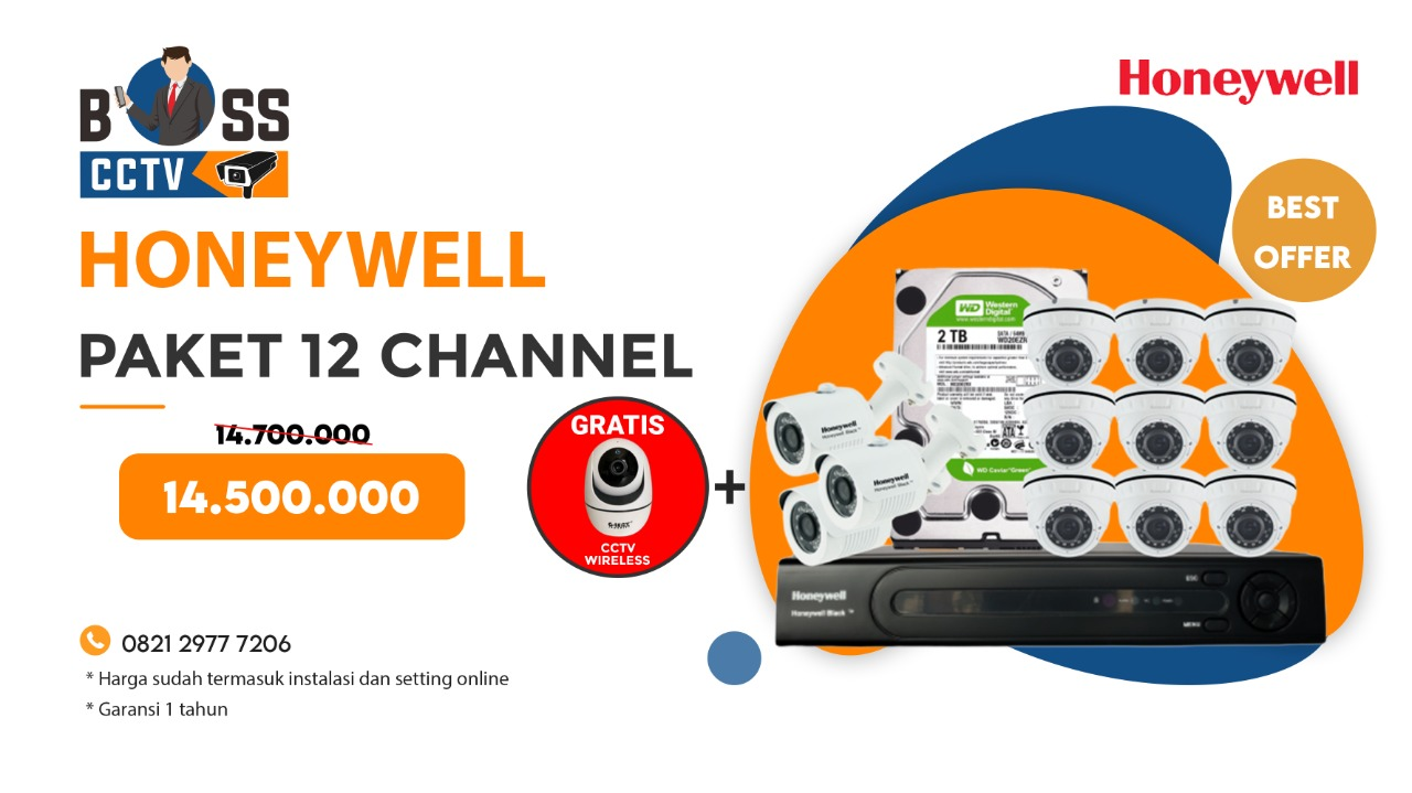 Paket CCTV Honeywell 12 Channel