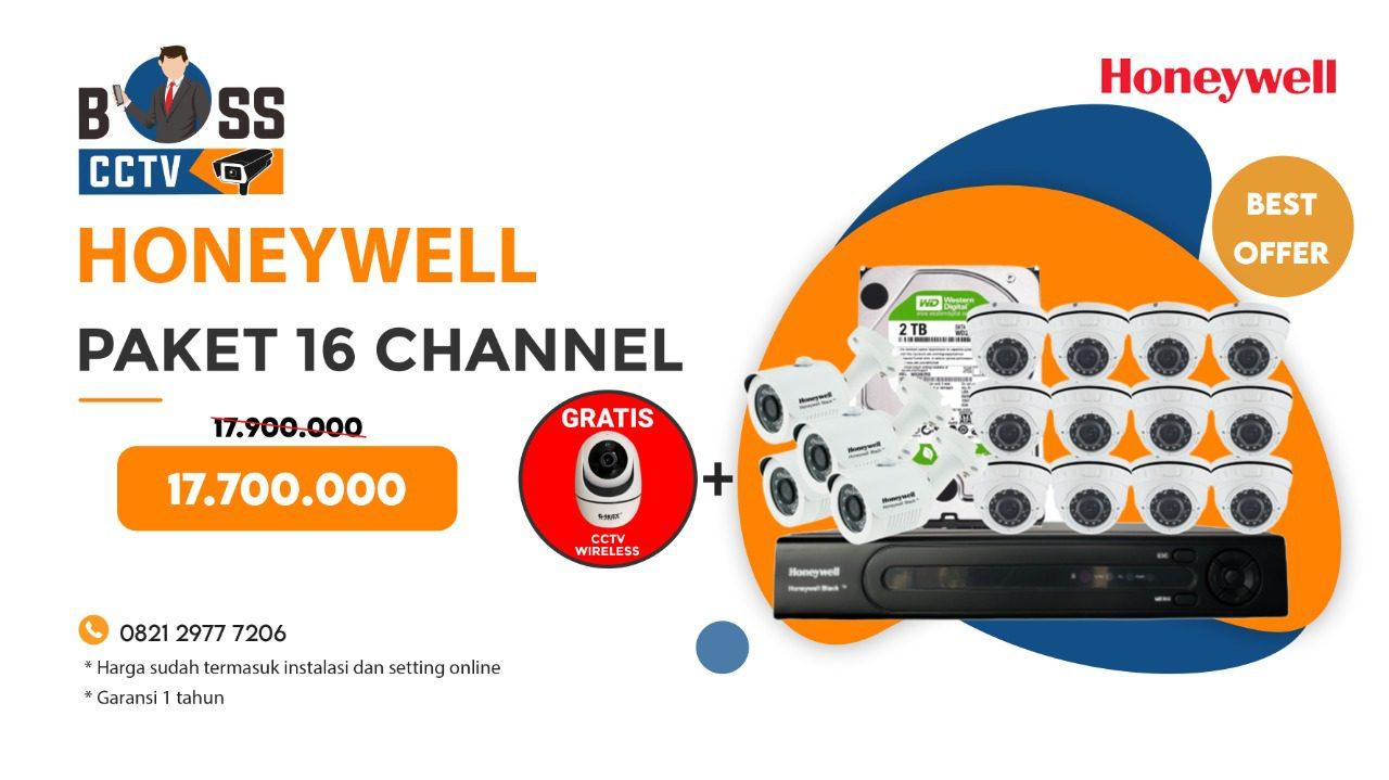 Paket CCTV Honeywell 16 Channel