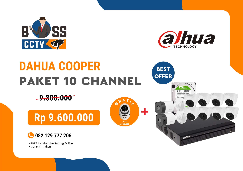 PAKET CCTV DAHUA COOPER 10 CHANNEL