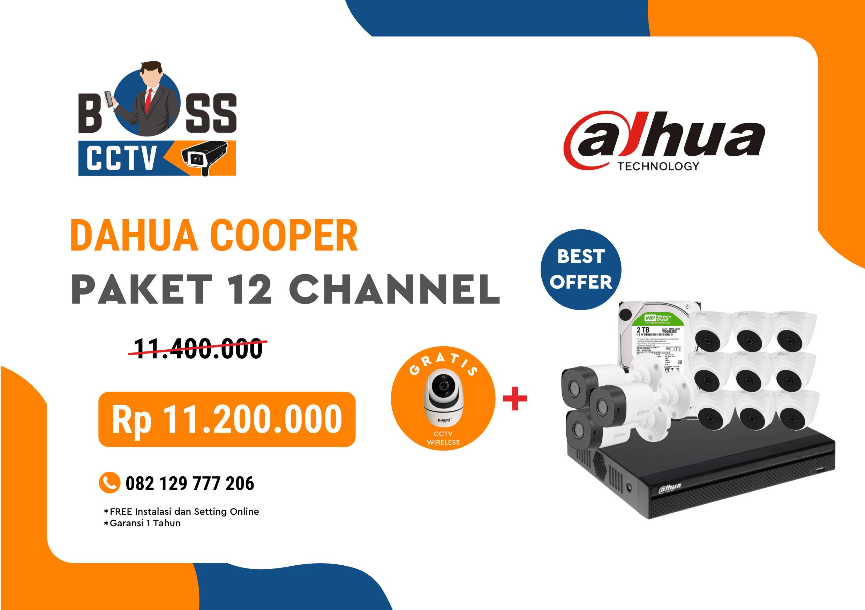 PAKET CCTV DAHUA COOPER 12 CHANNEL