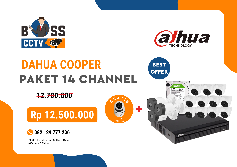 PAKET CCTV DAHUA COOPER 14 CHANNEL
