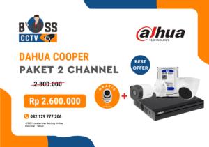 PAKET CCTV DAHUA COOPER 2 CHANNEL