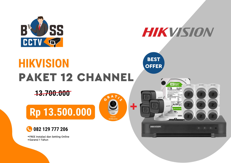 PAKET CCTV HIKVISION 12 CHANNEL