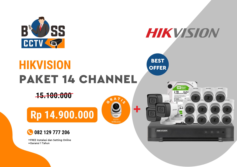 PAKET CCTV HIKVISION 14 CHANNEL
