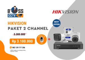 PAKET CCTV HIKVISION 2 CHANNEL