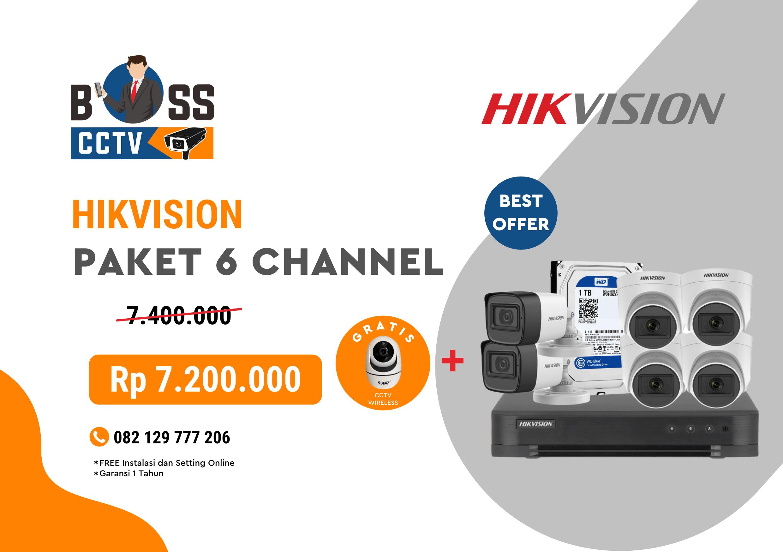 PAKET CCTV HIKVISION 6 CHANNEL