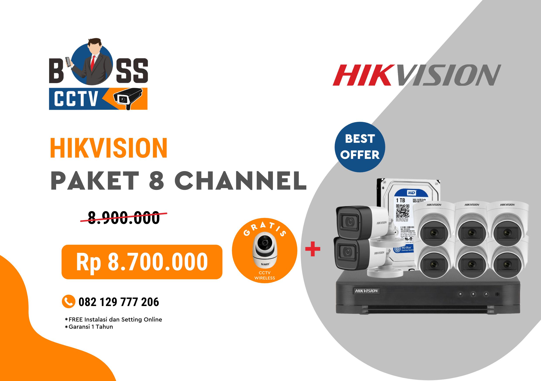 PAKET CCTV HIKVISION 8 CHANNEL